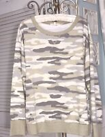 NEW Plus Size 2X Green Gray Shirt Camo Camouflage Knit Top $78