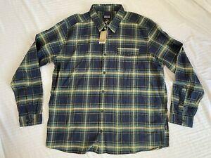 Men's Patagonia Lightweight Fjord Flannel Shirt Sz. XXL NWT