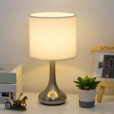 Small Bedside Table Lamp Desk Nightstand Lamp Metal Base...