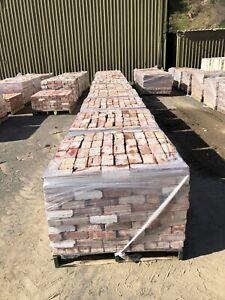 10 Pallets of Old Red Bricks - Shale 76mm