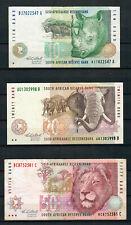 AFRIQUE DU SUD SOUTH AFRICA - 10, 20 & 50 Rand - 1992-93 - Détails dans annonce