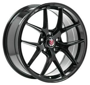"""19"""" AXE EX34 Alloy Wheels Gloss Black 5x112 fit Audi A3 A4 A6 TT TTS"""