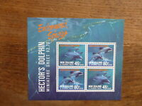 NEW ZEALAND HEALTH STAMPS 1991 DOLPHINS 4 STAMP MINI SHEET MNH