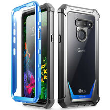 LG G8 ThinQ Rugged Clear Case,Poetic® Hybrid Shockproof Bumper Cover Blue