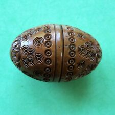 Coquilla Nut THIMBLE CASE with Stanhope.showing 5 views of Briancon