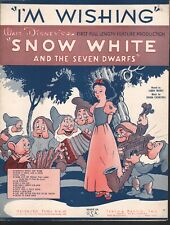 I'm Wishing 1937 Snow White and the Seven Dwarfs Sheet Music