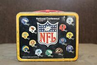 Vintage 1975 NFL National/American Conference Metal Lunchbox No Thermos