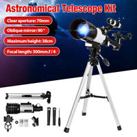 Professional 70mm 150X Astronomical Refractor Telescope For Kids Beginners Gift