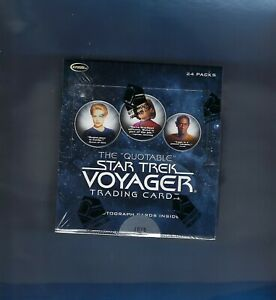 STAR TREK VOYAGER THE QUOTABLE FACTORY SEALED BOX NEW 3 AUTOGRAPHS PER BOX !