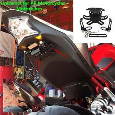 Motorcycle Adjustable License Plate Holder Frame Bracket Tail Rear Light Mount