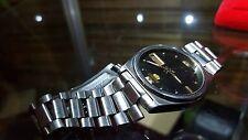 Rare Vintage Seiko 5 Automatic Black Dial 21 Jewel Movement Men's Wrist Watch