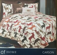Nwt King Cf Home Carson Rustic Deer Quilt $235 Bedspread