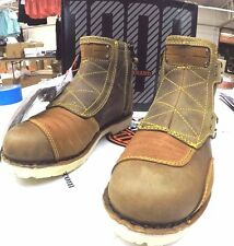 3403-0350 Mens 9  Icon 1000 Brown Leather El Bajo Motorcycle Riding Boot NEW