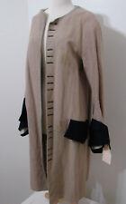 Victorian Tail Coat Revolutionary Beige Burlap Wool Bell Sleeve Screen Worn 38