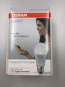 Osram SMart + LED E27 Classic Dimmbar Apple Siri Bluetooth 600lm Neu