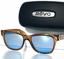 NEW! REVO TRYSTAN Rootbeer w/ POLARIZED Blue Water lens Sunglass 5012 02 BL