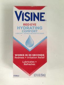 VISINE HYDRATING COMFORT (ADVANCED) DRY, RED EYE DROPS 15ml 1/2 oz  03/2023