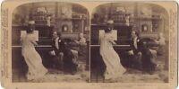 La Lección De Vida De Foto Estéreo Stereoview Vintage