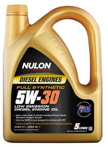 Nulon Full Synthetic Diesel Low Emission Engine Oil 5W-30 5L fits Citroen DS5...