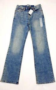 NWT Old Navy Boot Cut Built In Tough Flex Acid Wash Denim Jeans Youth Boys 16