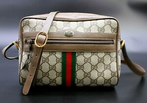 【Rank AA】 Authentic Gucci GG Supreme Web Sherry Shoulder Bag Crossbody Vintage