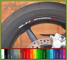 8 x YAMAHA XJ6 Diversion S Wheel Rim Stickers Decals - 20 Colours - xj6s xj6-s