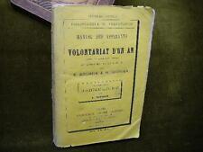 MANUEL DES ASPIRANTS AU VOLONTARIAT D'UN AN 2è part. Agriculture 1875