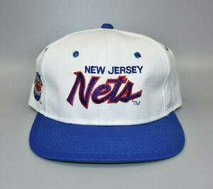 New Jersey Nets Vintage Sports Specialties Script The Twill Snapback Cap Hat