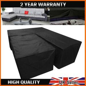 Waterproof Garden L Shape Corner Furniture Cover Sofa Rattan Outdoor Protect