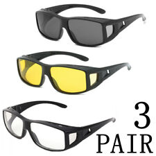 3Pair Motorcycle Sunglasses Windproof Riding Bike Glasses Outdoor Sports Eyewear