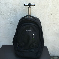 JanSport  - Wheeled/Rolling Backpack Bag  Black / Blue Inside