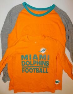 Miami Dolphins Youth  Long Sleeve Tee,  XS,XL NFL Team Apparel