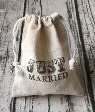 12x Vintage Just Married Line Bags Wedding Favor Bags Wedding Gift Bags Favours
