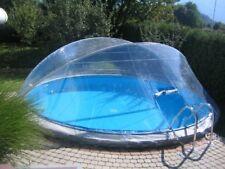 Abdeckung Cabrio Dome Ø 5,00m rund Pool Überdachung Schwimmbecken