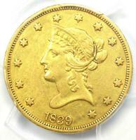 1839/8 Liberty Gold Eagle $10 (1838 Type Coin) - PCGS XF Details (EF) - Rare!