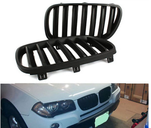 Front Bumper Center Kidney Glosy Black Grille Grill Mesh For BMW E83 X3 07-2010