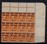 PP137644/ FRENCH MEMEL – MI # 110 MINT MNH – BLOCK OF 12 – CV 90 $
