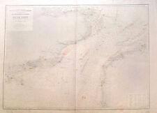 Grande carte marine, Nord Pas de Calais, gravure sur cuivre, 1896
