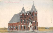 C25/ Dunkirk Indiana In Postcard 1910 St Mary's Church Building