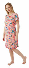 Ladies Soft Touch Oriental Floral Print Nightdress Sizes 12 - 30 12/14