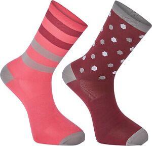 Madison Sportive long sock twin pack, hex dots classy burgundy / berry medium 40