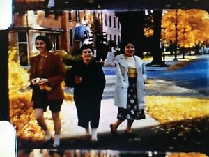 Regular 8mm Family Home Movie Girls/College Autumn & Winter - 1959