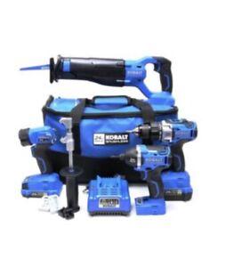 Kobalt 0672826 24-Volt Max Brushless 4-Tool Combo Kit W/ Battery & Charger - NEW