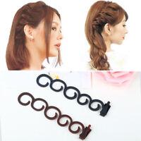 Fashion French Hair Braid Magic Bun Maker Holder Clip Twist Styling Roller Tool