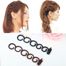 2PCS DIY Magic Hair Twist Centipede Styling Braid Clip Stick Bun Maker Tools #