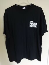 "Euc The Police - Band 2000's "" Tactical "" Tour Crew Concert T-Shirt Men X-Large"