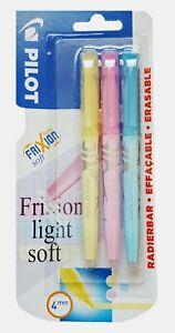 Pilot FriXion Light Soft Erasable Highlighter Pens Pastel Ink 3 Pack 4mm Nib