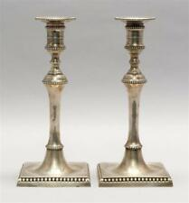 "PAIR OF GEORGE III STERLING SILVER CANDLESTICKS Maker's mark ""IC"", p... Lot 1032"
