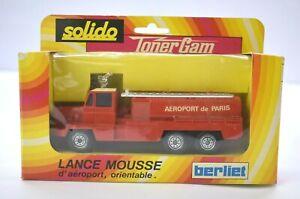 Solido Toner Gam Lance Mousse VTG 351 Berliet French Paris Diecast Fire Truck