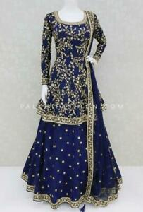Salwar Kameez Party Wear Indian Designer Lehenga Pakistani Bollywood Dress suit